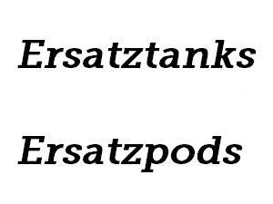 Ersatztanks / Pods